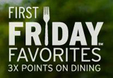 Chase Sapphire First Fridays: Earn 3x Points on Dining