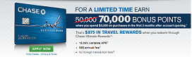 Chase Ink Plus Business Credit Card: 70,000 Point Signup Bonus