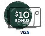 Starbucks Card / Visa $10 Bonus