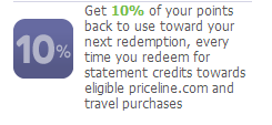 Grandfathered Priceline Visa Benefits