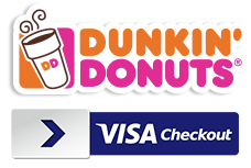 visa checkout offers from dunkin donuts williams sonoma crazy8