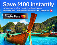 Orbitz: Save $100 Off $100 Using MasterPass