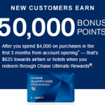 Chase Sapphire Preferred: 50,000 Point Signup Bonus After Spending $4,000