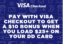 Dunkin Donuts Visa Checkout Offer