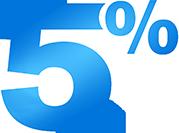 5 Percent Cash Back