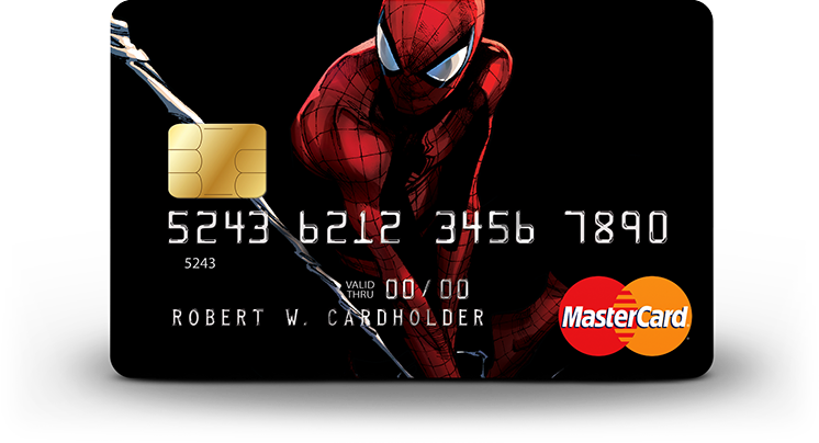 Spiderman card art