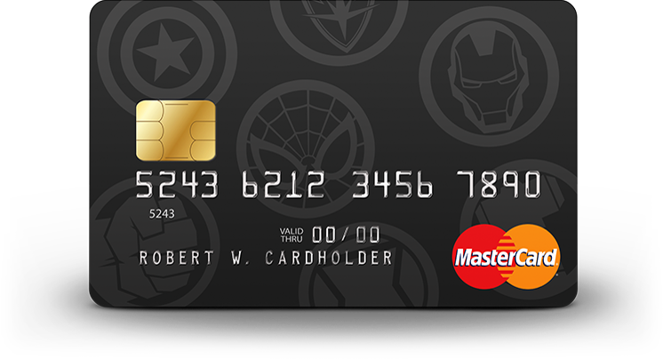 Avenger logos card art