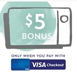 Starbucks Visa Checkout $5 Bonus