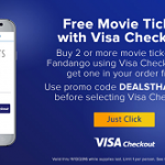 Visa Checkout: Buy 2 or More Tickets on Fandango, Get One Free