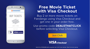 Fandango Visa Checkout deal