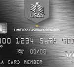 USAA Limitless Visa – 2.5% Cash Back on All Purchases